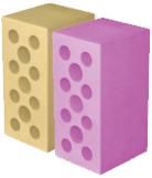 Камень силикатный лицевой цветной объемного